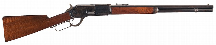 Desirable and Very Fine Winchester Model 1876 Special Order Short Rifle