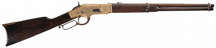 Engraved Winchester Model 1866 Lever Action Carbine
