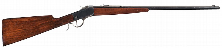 British Proofed Winchester Model 1885 Low Wall Single Shot Rifle