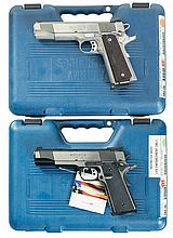 Two Springfield Armory Model 1911-A1 Semi-Automatic Pistols with Cases -A) Springfield Model 1911A1 Pistol