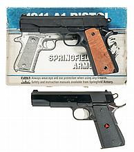 Two Springfield Armory Semi-Automatic Pistols -A) Springfield Model 1911A1 Pistol with Box