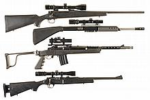 Three Longarms and an Upper Receiver -A) Remington Model 700 Bolt Action Rifle with Scope and Upper Receiver Assembly