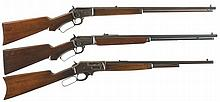 Three Lever Action Rifles -A) Marlin Model 39 Rifle