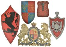 Four Shields and a Royal Coat of Arms