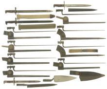 Thirteen Assorted Bayonets with Sheaths