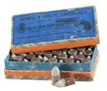 Extremely Rare Picture Label Box of Union Metallic Cartridge Co. .41 Rimfire Cartridges for Colt Derringer