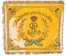Scarce Imperial German Parade Set for a Berlin Garde-Fusilier Veteran Group, Including an Impressive Embroidered Unit Flag with Pole and Carrier