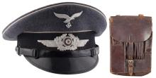 Desirable G.A. Hoffmann 1937 Dated Enlisted/NCO Visor Cap Marked to the Regiment General Goering with Map Case