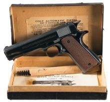 Desirable First Year Production Colt Super 38 Model Semi-Automatic Pistol, Serial Number 761 with Box and Accessories
