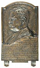 Bronze Plaque of President Theodore Roosevelt by James Earle Fraser
