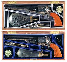 Matching Serialized Colt Robert E. Lee and Ulysses S. Grant Commemorative Model 1851 Navy Revolvers with Cases -A) Colt Robert E. Lee Commemorative Model 1851 Navy Revolver