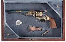 Cased United States Historical Society Stonewall Jackson Commemorative 1851 Colt Navy Revolver