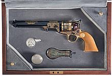 Cased Gold Inlay United States Historical Society Robert E. Lee Commemorative Colt 1851 Navy Percussion Revolver