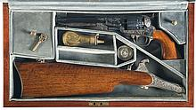 Cased Engraved United States Historical Society Jefferson Davis Commemorative 1851 Navy Percussion Revolver with Accessories