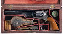 Cased Civil War Era Colt Civilian Model 1851 Navy Percussion Revolver