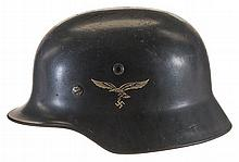German Model 1935 Stahlhelm in Luftwaffe Double Decal Configuration