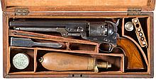 Cased Colt Model 1851 London Navy Revolver with Accessories