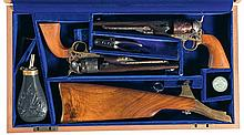 Cased Pair of Colt United States Calvary Commemorative 1860 Army Revolvers with Accessories -A) Colt Black Powder Series 1860 Army Revolver