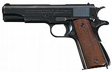 Exceptionally Rare Pre-World War II 1938 Production Colt Model 1911A1 U.S. Army Contract Pistol with Commercial Shoulder Holster