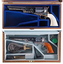 Two Cased Colt Black Powder Series Percussion Revolvers -A) Colt Dragoon Second Model Percussion Revolver with Original Box