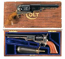 Two Colt Percussion Revolvers Colt -A) Third Model Dragoon Second Generation Percussion Revolver with Box