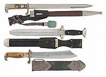 Three Nazi Edged Weapons