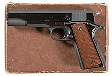Excellent Colt Super 38 Government Model Semi-Automatic Pistol with Box and Boxed 22 LR Conversion Kit