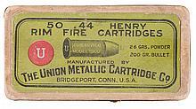 Rare Box of 44 Henry Flat Cartridges