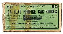 Desirable Fifty Round Box of Winchester .44 Flat Rimfire Cartridges