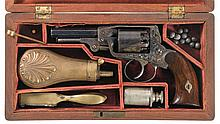 Very Rare Cased Factory Engraved IXL Double Action Pocket Model Revolver Serial No. 42