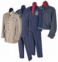 Large Grouping of Items and Documents Relating to the World War Careers of Airman Lieutenant Colonel Richard Wright and Navy Captain Otto Carl Dowling Including Four Uniforms