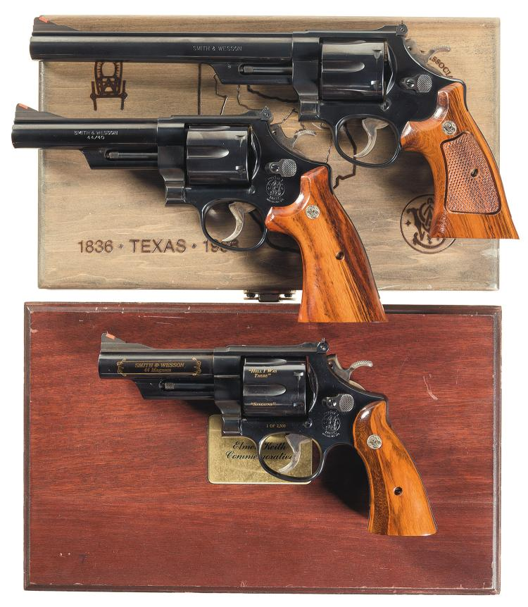 Three Smith & Wesson Double Action Revolvers -A) S&W Model 2
