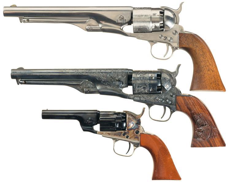 Three Modern Colt Percussion Revolvers -A) Colt Black Powder