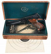 Colt Second Series Woodsman Match Target Semi-Automatic Pistol with Box and Test Target