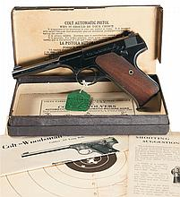 Excellent Colt First Series Woodsman Sport Model Semi-Automatic Pistol with Original Box