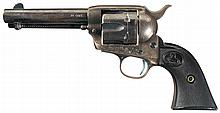 First Generation Colt Single Action Army Revolver with Factory Letter