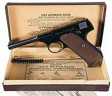 Excellent Colt Woodsman First Series Sport Model Semi-Automatic Pistol with Box