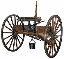 Rare Spanish American War Era Colt Model 1897 Gatling Gun with Carriage