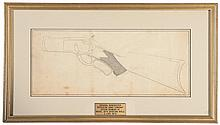 Rare Original Winchester Repeating Arms Company Design Drawing for A Proposed One-of-a-Kind Model 1875 Sporting Rifle