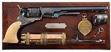 Profoundly Rare and Equally Magnificent Cased No. 5 Texas Paterson with 6 Silver Bands 9