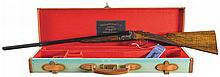 Rare Cased and Engraved Webley & Scott Model 728 Side by Side 28 Gauge Shotgun with Accessories