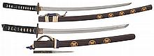 Pair of Japanese Swords in Clan-Themed
