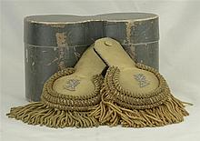 One Pair of European Epaulettes with Storage Container
