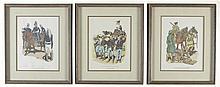 Three Framed Historical Military Prints