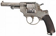 St. Etienne Model 1873 Chamelot-Delvigne Double Action Service Revolver with Cased William Yorke Stevenson Medals from WWI