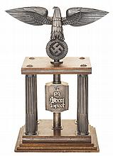 Historic Silver Nazi Trophy, Inscribed to Nazi War Production Chief and Personal Architect to Adolf Hitler Albert Speer for His Work on the 1933 Nuremberg Rally