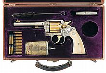 Historic Cole Agee Engraved and Monogrammed to Public Enemy Number One Era Kansas City, Missouri Sheriff Thomas B. Bash Colt New Service Model Dual Caliber 44 Russian/44 S&W; Special Double Action Revolver with Factory Letter and Shooter Case