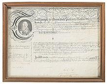 Historic Framed Irish Sub-Commissioner Appointment Document from the Reign of King George III