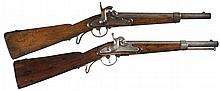Collector's Lot of Two Civil War Era Percussion Austrian Carbines -A) Percussion Saddle Ring Carbine