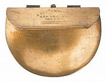 Scarce Kittredge Marked Brass Belt Cartridge Box for 44RF Rifle Cartridges